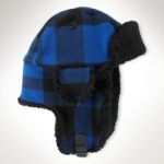 Polo Wool Shearling Trapper Hat